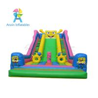 Awesome event/party rentals Super children Inflatable Colorful Slide For Sale Manufactures