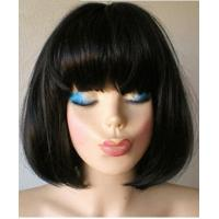Charming Natural Black Synthetic Hair Capless Bob Wig About 12 Inches Manufactures