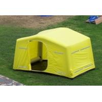 0.9mm PVC Tarpaulin + Oxford Cloth Tourism / Advertising Inflatable Party Tent Yellow Manufactures