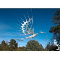 Buy cheap Animal Garden Decoration Stainless Steel Sculpture , Flying Bird Sculpture Metal from wholesalers