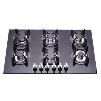 Residential Tempered Glass Top 6 Burner Gas Hob , Six Burner Gas Cooker Manufactures