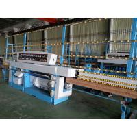 Miter Glass Glass Edging Machine With Air Polishing / Electrical Rail Lift System Manufactures