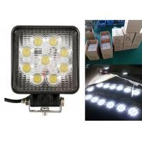 27W Square Vehicle LED Work Lights For Off Road 4.5 Inch With 9LED Manufactures