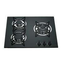 Tempered Galss Top 3 Ring Gas Hob , Safety Kitchen Three Burner Gas Cooktop Manufactures