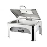 Large Stainless Steel Cookwares , Digital Display Electric Chafing Dish With Windowed Lid Manufactures