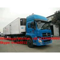 Quality Factory customized CLW bramd 13.8m length reefer van semitrailer/refrigerator for sale