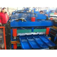 5.5kw Automatic  840mm effective Glazed Tile roof sheet  Roll Forming Machine Metal Forming machine with stamping device Manufactures