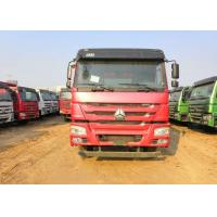 HOWO Heavy Duty Dump Truck Equipment , Red Color International Dump Truck Manufactures