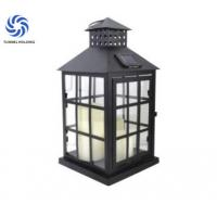 Metal Frame Solar LED Lantern / Solar Hanging Lanterns Outdoor For Holiday Manufactures