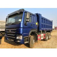 Sinotruk 6x4 371 Horse Power Heavy Dump Truck 25 Tons Blue Color Long Life Manufactures