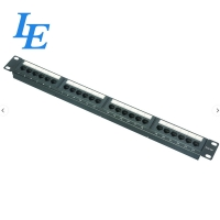 China 19inch RJ45 24 Ports Cat6 UTP Network Patch Panel on sale