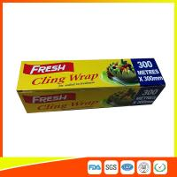 Soft Heat Resistant PE Catering Cling Film , Cooking Biodegradable Cling Wrap Manufactures