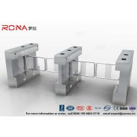 Gym Swing Barrier Gate Electronic Stainless Steel Turnstile Double Swing IP 54 LED Indicator Manufactures