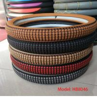 cheap price good quality pu brown M size car steering wheel cover Manufactures