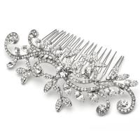 China Noble beauty flower rhinestone combs bridal tiaras, filigree Bridal Hair Ornamen ornaments on sale