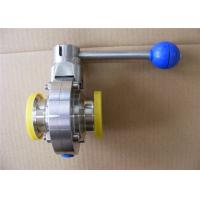 Buy cheap Industrial Stainless Steel Butterfly Valves For Production Line Simple Structure from wholesalers