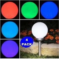 Quality PMMA RGB Changing clolr  Globe Solar Lights , Color Changing Solar LED Ball Lights for sale