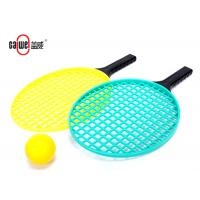 Silk Screen 413mm Plastic Tennis Racket PU Ball For Beach Game Water Resistant Manufactures