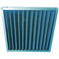 Quality Rigid Aluminum Extended Surface Air Filter Pleated With Activated Carbon Felt for sale