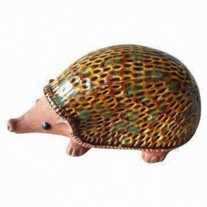 Popular Design Ceramic Hedgehog for Garden Ornaments