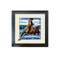 Running Horse Image 3D Lenticular Printing Service MDP Frame 5D Effect Manufactures