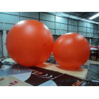 Giant Orange 0.18mm Inflatable Advertising Balloons For Shopping Mall Manufactures