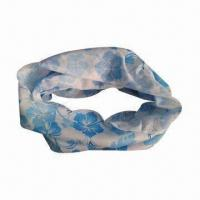 Bandana, Made of 100% Polyester, Various Designs are Available Manufactures