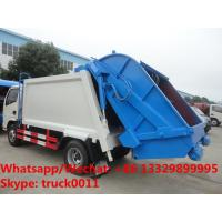 Quality 2018S best seller good price dongfeng 5m3 4tons compression garbage truck for sale, garbage compactor truck for sale for sale