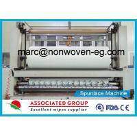 Entangled Nonwoven Spunlace Fabric Hydroentangled Spun Lace Plain / Embossed Cross Lapping Manufactures