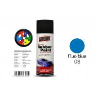 Fluo Blue Color Removable Rubber Spray Paint , Peelable Car Paint Grade 2 Adhesion Manufactures