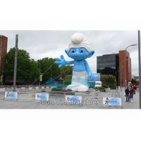 Outdoor Event Inflatable Replica / Inflatable Smurf Character with Digital Printing Manufactures