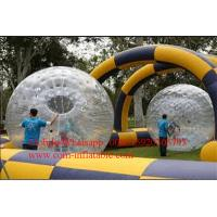 Inflatable Race Track roller raceway using Zorb Balls aka Bubble Balls or Hamster Balls Manufactures