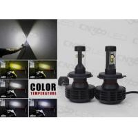 Black H4 Led Automotive Headlight Bright With 360 Degree Beam Manufactures