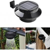 Quality Black Finish Outdoor Solar Gutter LED Lights / Solar Fence Lamp For Pathway for sale