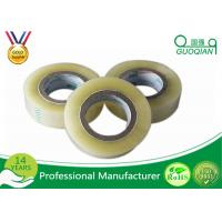 Single Sided Transparent BOPP Packing Tape / Masking Tape Tensile Strength SGS ROHS Manufactures