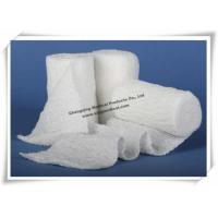 China Cotton Gauze Bandage Rolls / Compress Fluff Crinkle Surgical Medical Gauze Sponges on sale