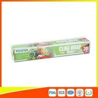 Food Grade PE Food Packing Plastic Wrap , Stretch Wrap Film For Kitchen Manufactures