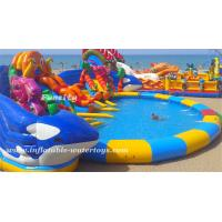10m diameter Water Pool Inflatable Water Park with giant water pool and water slide Design can be Customized Manufactures
