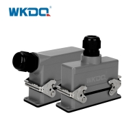 Male Female IP65 Heavy Duty Wire Connectors WHE24C Manufactures
