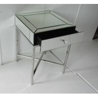 45 * 45 * 65CM Mirror Tables Furniture Silver Color Steel Chrome Finish Manufactures