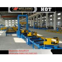 VFD Spot Welding Speed Control H Beam Assembling Machine Automatic To Fix Flange And Web Manufactures
