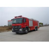 Manual Operation Water Pump Fire Truck Max Speed 95KM/H Rear Roof Fire Monitor Manufactures