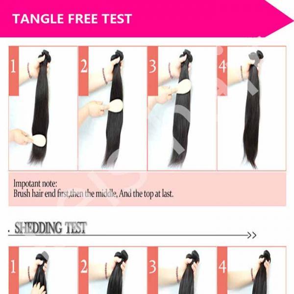 leis hair-human hair-test