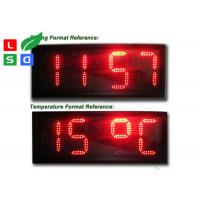 Quality Time / Temperature LED Programmable Scrolling Message Signs P10 Auto Dimming By Sensor for sale