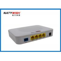 China Wireless 4 Ports FTTX ONT , Plastic Shell EPON ONU Less Power Consumption on sale