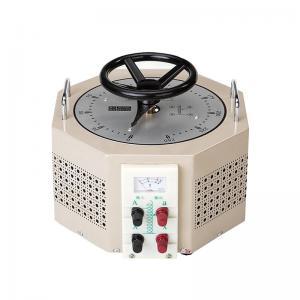 Pale Yellow AC Single Phase TDGC2J-3  IP20 Variac Voltage Regulator Manufactures