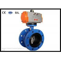 Wafer Butterfly Valve Actuator , Flange Butterfly Valve Pneumatic Actuator Manufactures