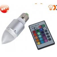 3w E27 Red,Green,Blue RGB Color Changing Remote Controlled LED Light Bulbs AC90 - 240V Manufactures