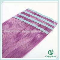 "Tape Hair extension 16""-28""L,100s/pack purple# color Straight malaysian virgin hair Manufactures"