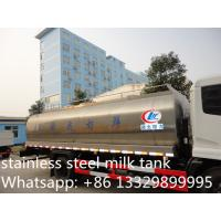 Quality FAW J6 13,000L stainless steel foodgrade milk tank truck for sale, China famous FAW brand liquid food truck for sale for sale